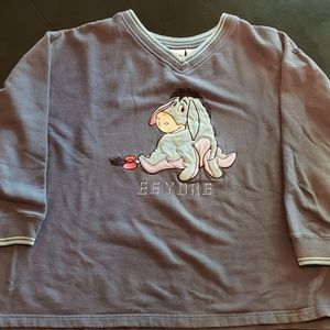 Vintage Disney Eeyore fleece sweater!